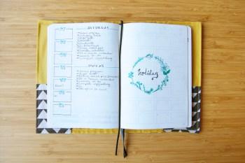 Bullet Journal rolling weeks holiday