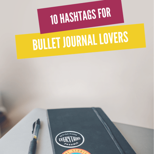 10 Bullet Journal hashtags