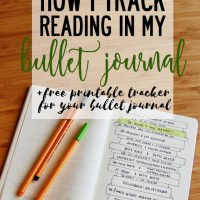 How I Track Reading in my Bullet Journal