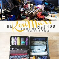 The KonMari Method Clothes - before and after
