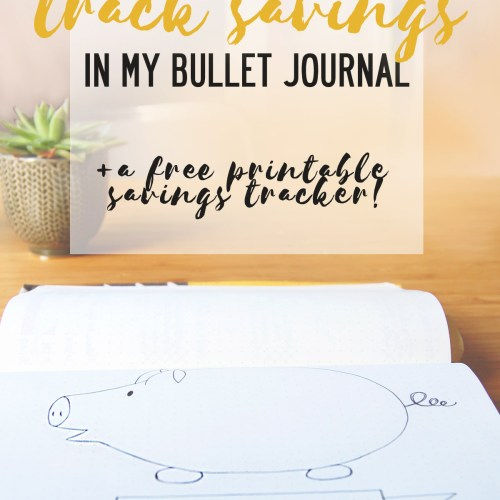 Piggy bank savings tracker for your bullet journal