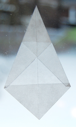 Point of origami star