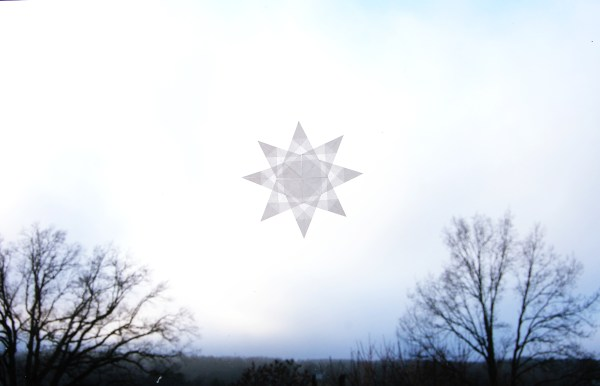 Snow crystal - folding a star for the holidays