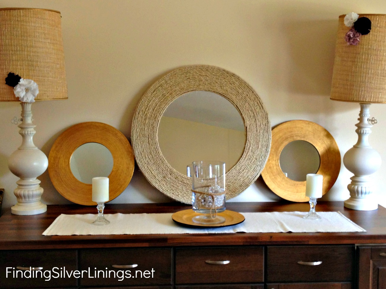 Very best Pinterest Challenge: D-I-Y Rope Mirror | Finding Silver Linings UT23