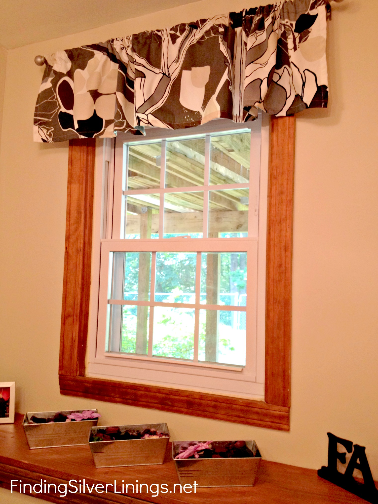 How To Make A Valance From A Really Long Curtain