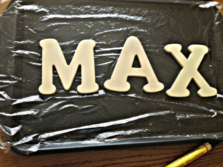 Cheap wooden letters + stain marker