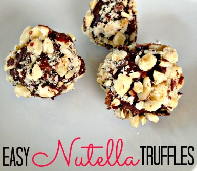 Nutella truffles...OMG