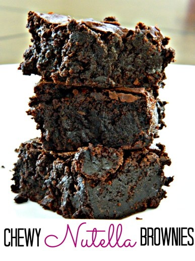 Chewy Nutella brownie recipe.  Seriously.