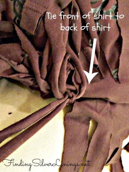 No sew fringe bag