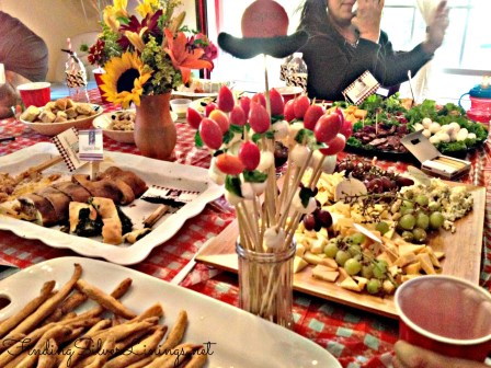 Italian theme appetizer spread