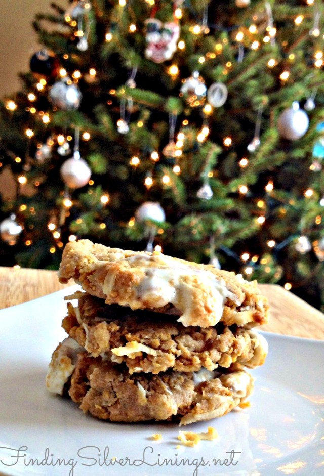 Coconut cornflake marshmallow cookie recipe!  Sweet and salty, crunchy and chewy,  OMG