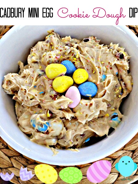 Cadbury mini egg cookie dough dip. This is the most amazing thing I have ever tasted.