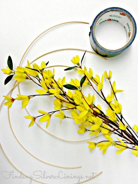 Simple boho floral headband
