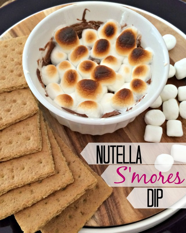 Oh wow.  Nutella s'mores dip recipe