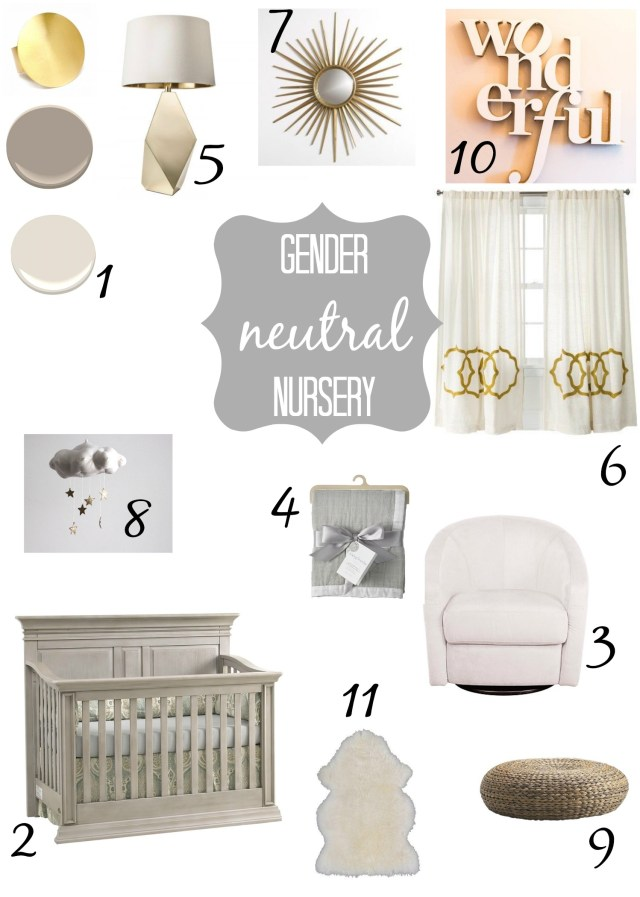Gorgeous gender neutral nursery