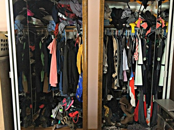 Downsizing from 2 closets to 1