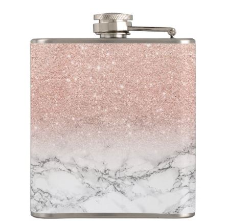 rose gold marble flask bridesmaid gift