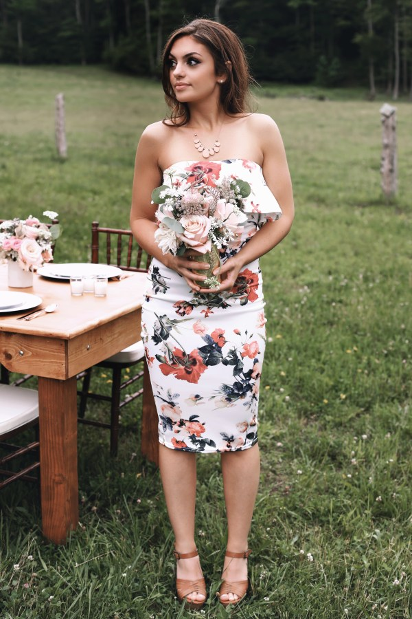 Rose themed dinner party farm event via Finding Silver Linings