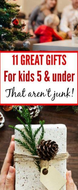 gift ideas for kids under 5 that aren't junk