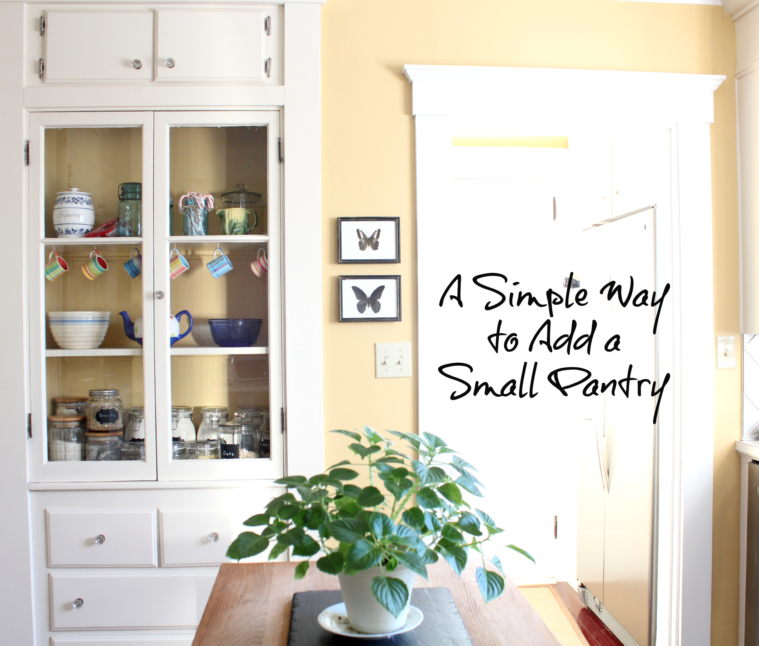 how to add a pantry your kitchen outside cabinets create small finding silver pennies