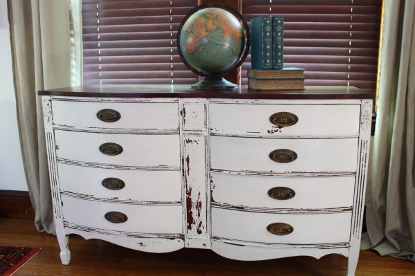 Serpentine Dresser Named Lily & - Finding Silver Pennies