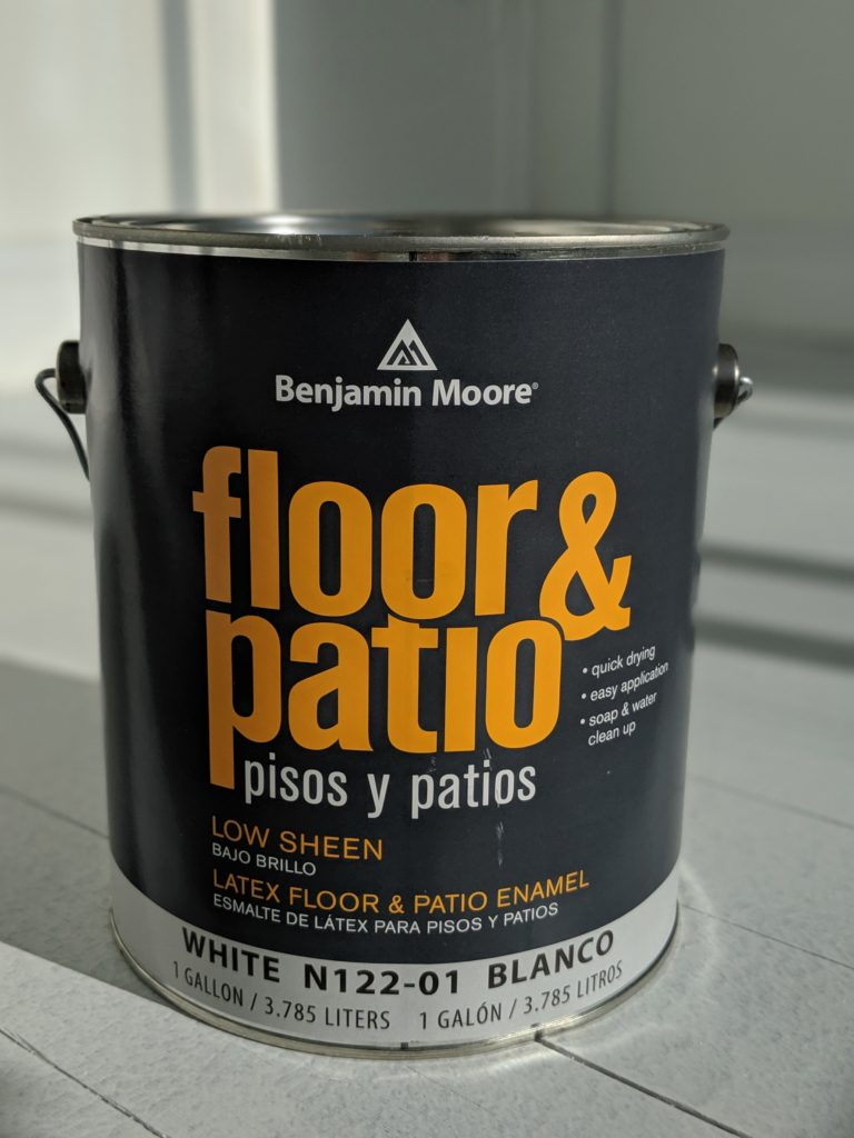 how to paint your floor finding