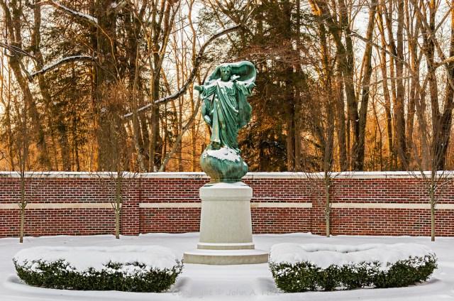 Loyola Jesuit Center statue