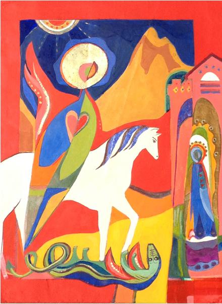 St. George And The Dragon by Christina Saj