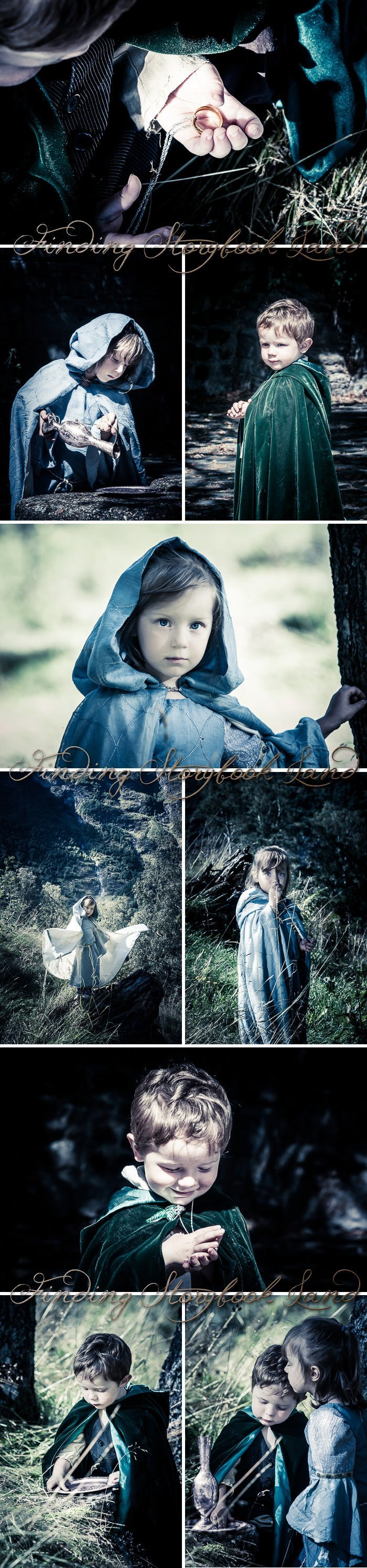 A basic guide on how to do a Hobbit themed children's photo shoot with costume, prop, and location ideas and tutorials