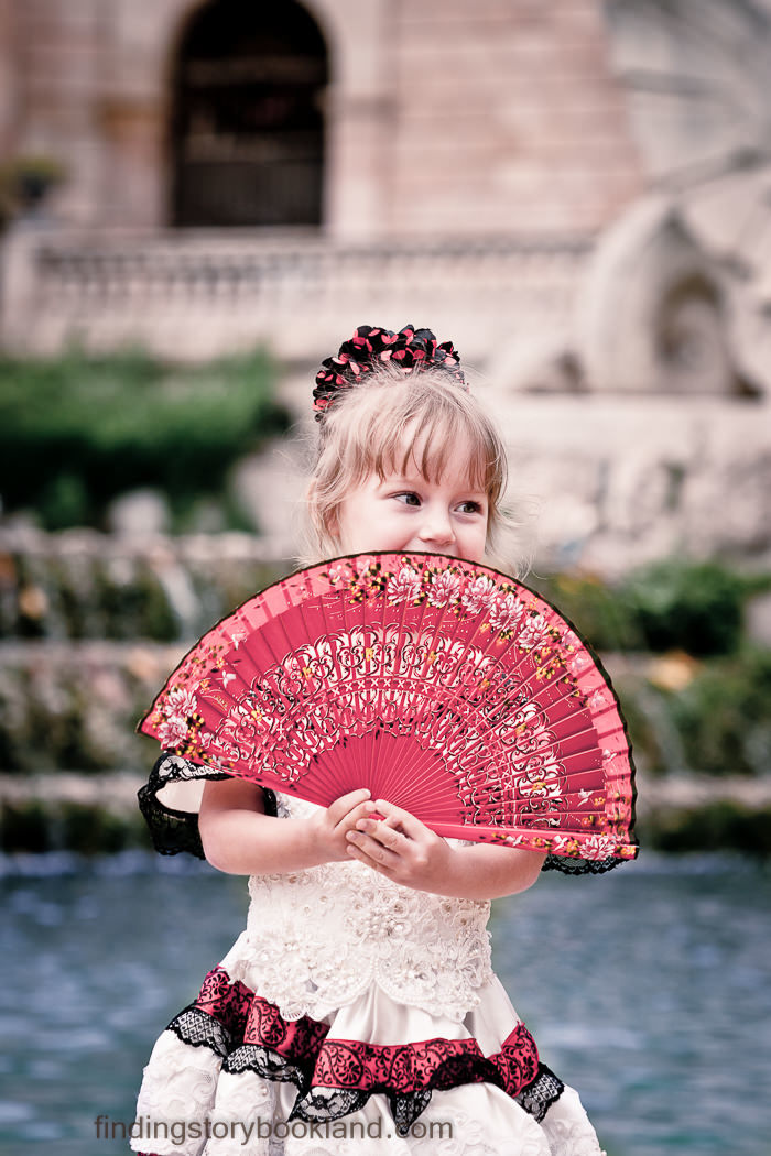 Fanciful Flamenco Dancer Children's Photo Shoot in Barcelona Spain