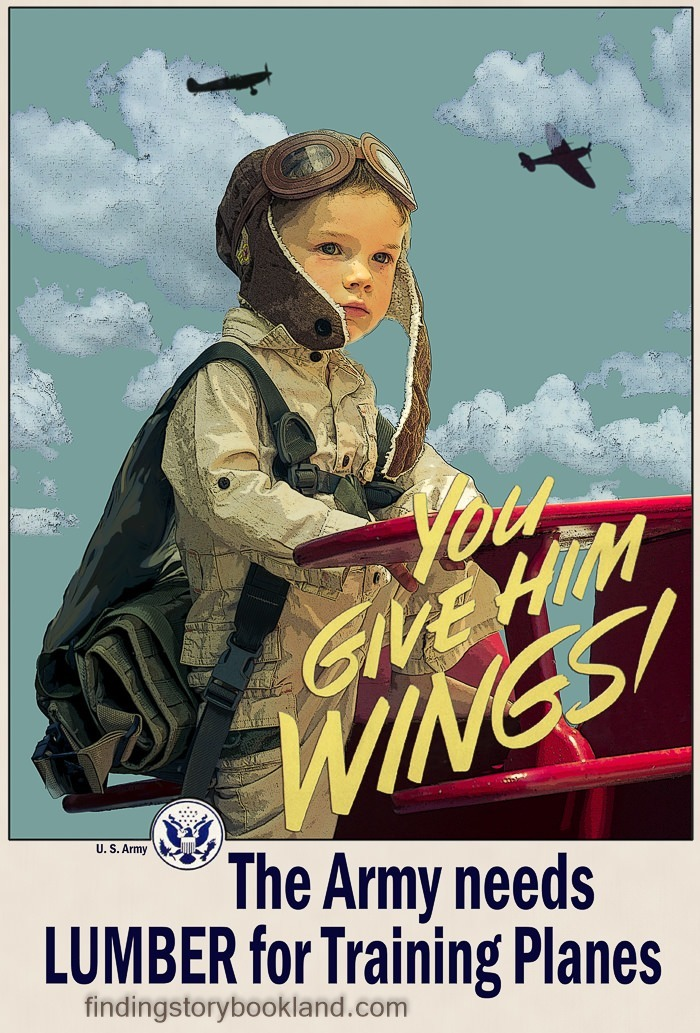 Finding Storybookland Americana You Give Him Wings Recruiting Poster