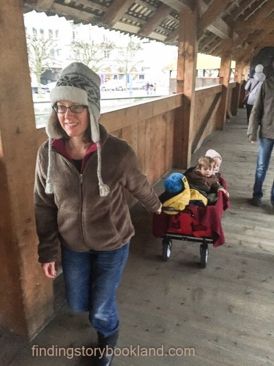 A collapsible wagon was one of our best investments as parents. It's like a rolling playpen, and we can bundle the kids under blankets when wanderlust calls in the winter!