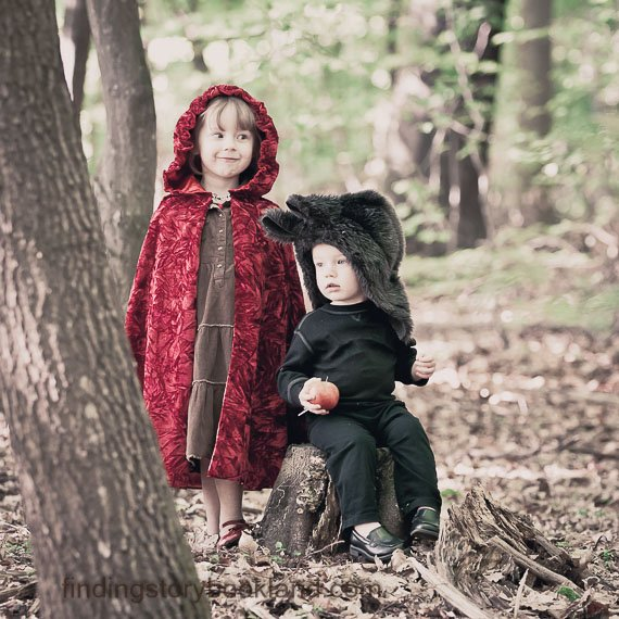 Little Red Riding Hood and a Big, Bad Wolf Hood Tutorial