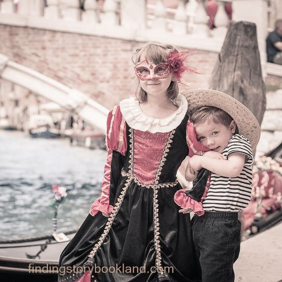 A Gondolier in Venice - Finding Storybook Land