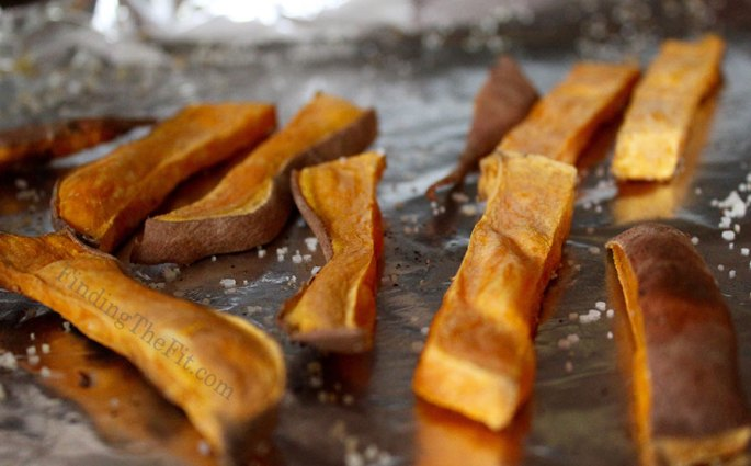 Sweet potato fries, healthy food, orange food