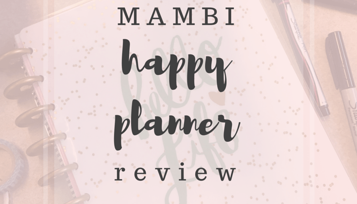 MAMBI Happy Planner Review