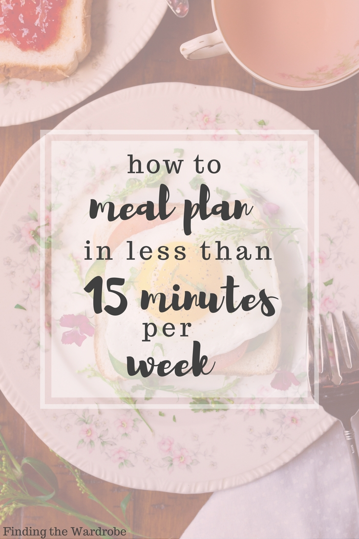 How to Meal Plan in 15 Minutes or Less per Week