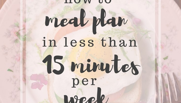 How to Meal Plan in Less than 15 Minutes Per Week