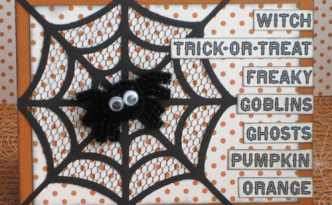 Halloween Card with Spider