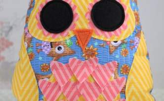 Fabric Owl Pillow with the CAMEO