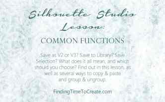 Silhouette Lesson - Common Functions