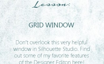 Silhouette Studio Lesson - Grid Window