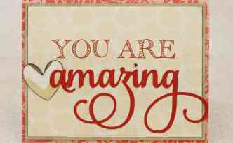 You Are Amazing | Finding Time To Create #card #silhouette
