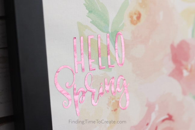 Watercolor Decor with Foil - Tutorial by Finding Time To Create