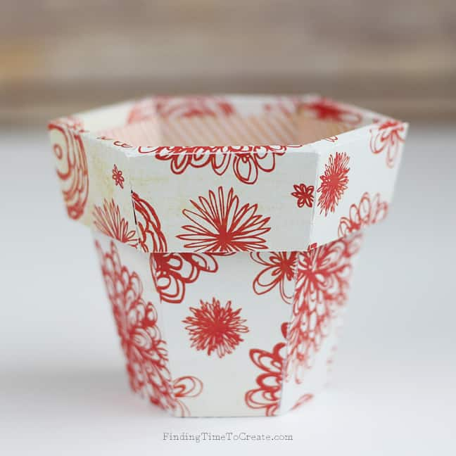 Paper Flower Pot - Finding Time To Create