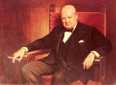 A 'portrayal' of Winston Churchill