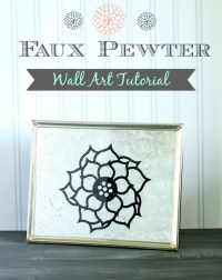 Faux Pewter Wall Art Tutorial - Finding Zest