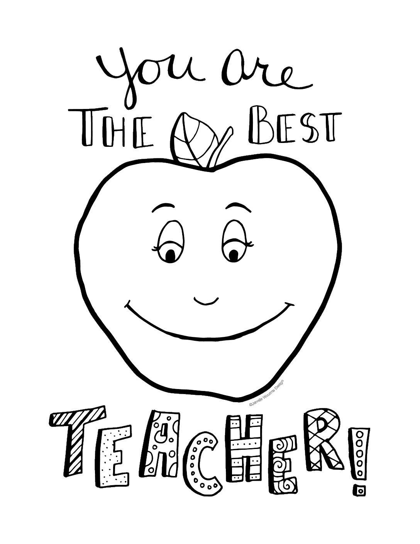 The Best Teacher Teacher Appreciation Coloring Page