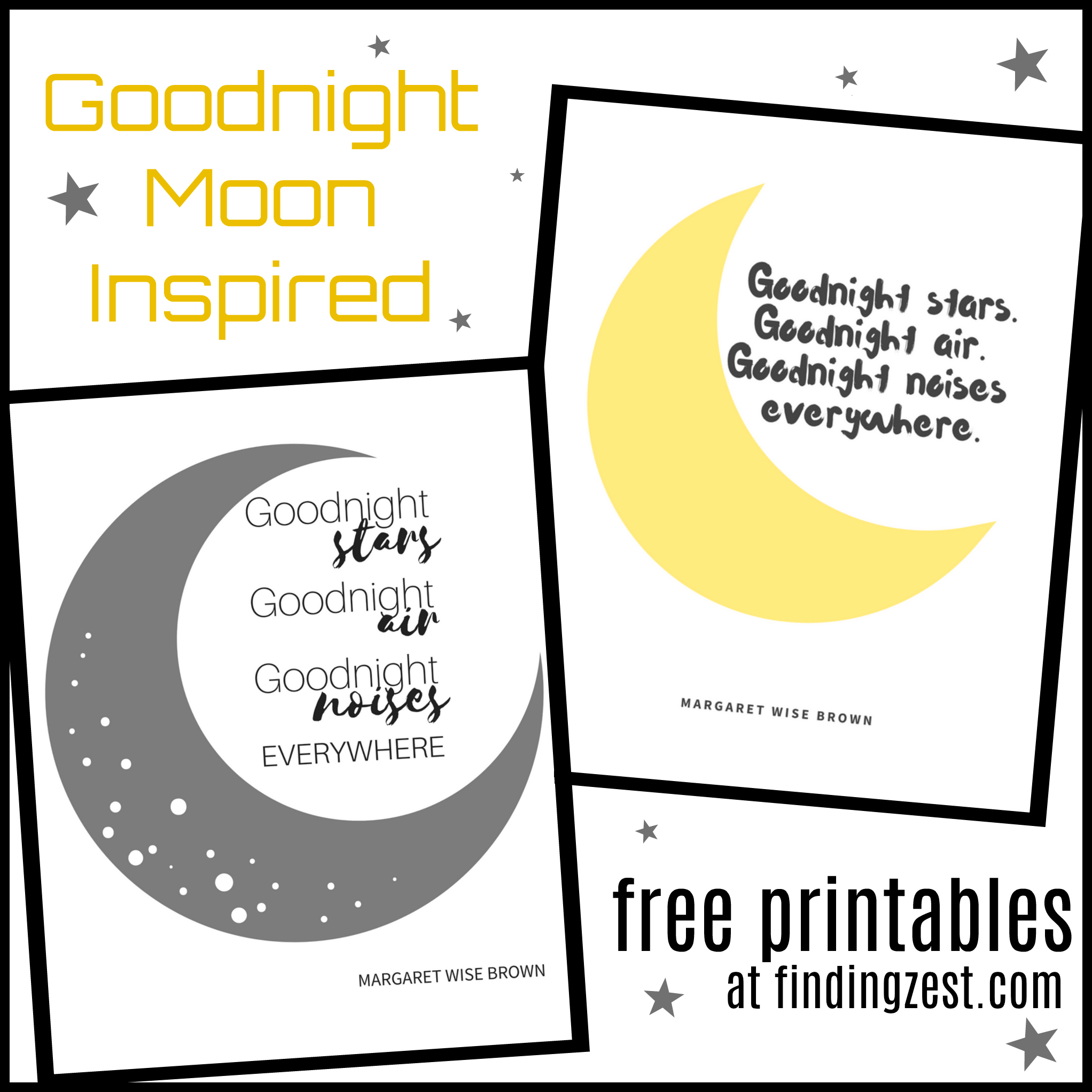Goodnight Moon Inspired Nursery Free Printables Good Day