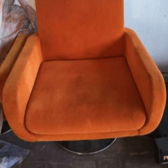 Orange Chair Salon Patio Table And Sets Lowes 3pcs Swivel For Parlor Spa In Angeles Pampanga